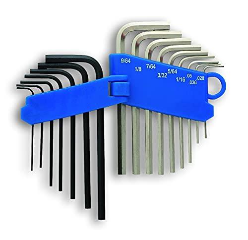 Laser 4196 Set de mini-clés Allen Système métrique/impérial 16 pièces