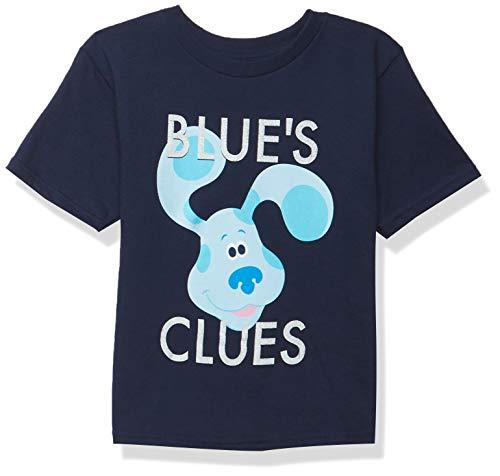 Nickelodeon Blue's Clues & You Big Face Toddler Boy Short Sleeve Tee - Blue, Josh Magenta T Shirt, Navy, 5T US
