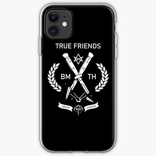 Hardymedicalsupplies Band Metal BMTH Custodia Protettiva per Telefono con Design a Scatto/Vetro per iPhone, Samsung, Huawei - TPU Antiurto per Interni protettivi
