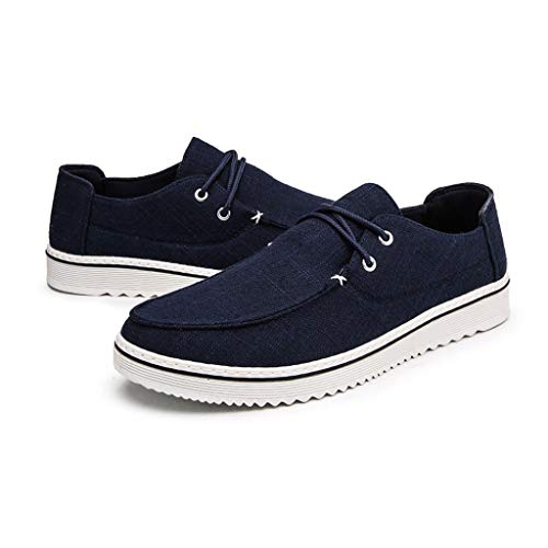 Fannyfuny Hombres Zapatillas Casuales Deportivas Al Aire Libre Sneaker Asfalto Antideslizante Zapatillas Ligeros Respirable Zapatos para Correr Transpirable Lace Up de Baloncesto