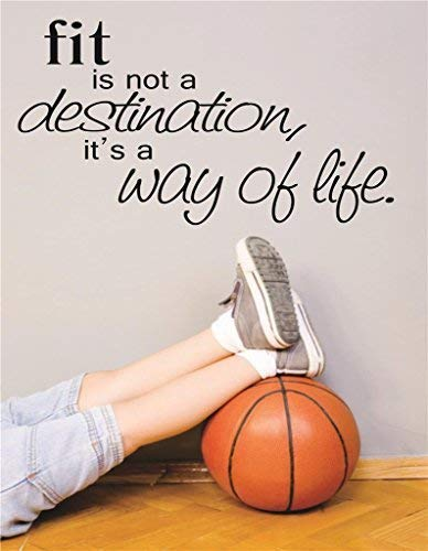 "Design with Vinyl RAD V 309 3 Fit is Not A Destination Its A Way of Life Sports Workout Health Exercise Fitness Motivation Quote Teen Boy Girl Man Women Decal, 20"" x 30"", Black"