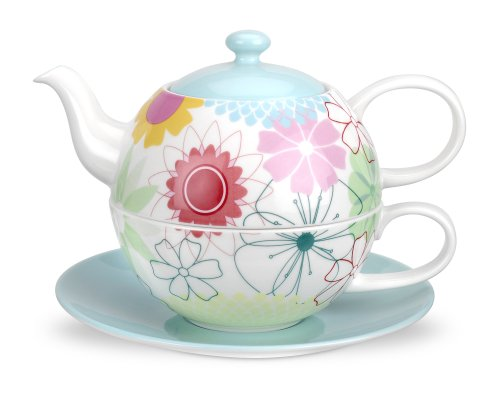 Portmeirion Crazy Daisy Tea for One Teekanne Und Tasse