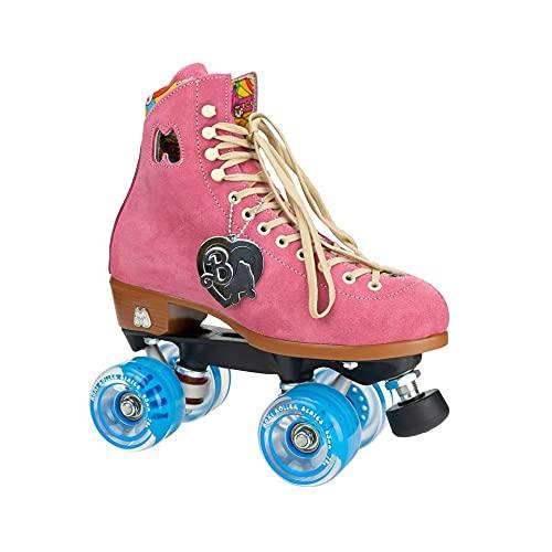 Moxi Skates - Malibu Barbie Limited Edition - Fun and Fashionable Womens Quad Roller Skate | Strawberry Pink | Size 8