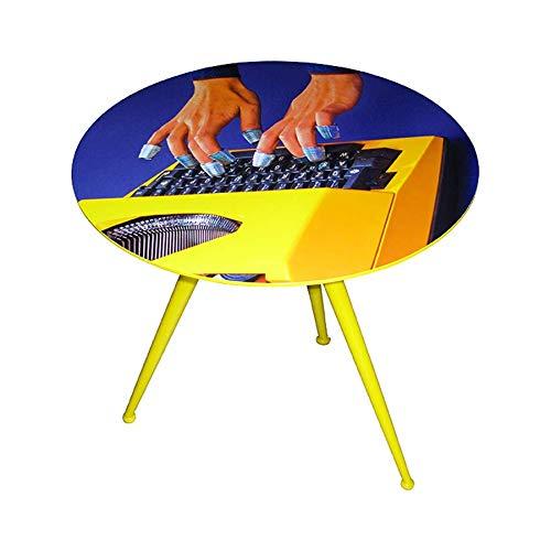 Seletti 'Table d'appoint en Bois Toiletpaper Ø cm.70 h.64,5 – Machine à écrire