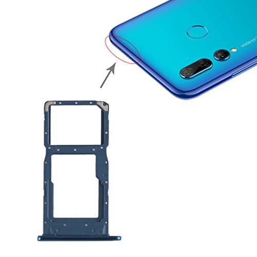 Recambios del teléfono móvil Bandeja LGMIN Tarjeta SIM Bandeja + Tarjeta SIM/Bandeja de Tarjeta Micro SD for Huawei P Smart + (2019) (Azul) Nuevo en 2020 (Color : Blue)