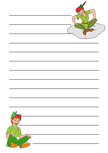 50 A5 Peter Pan film sur le thème écriture Petits Établissements papier – Uni papeterie