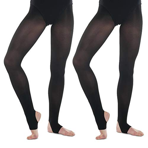 Daydance Thin Kids Girls Tights Footed Semi Opaque Stockings for Ballet Daily Life Party