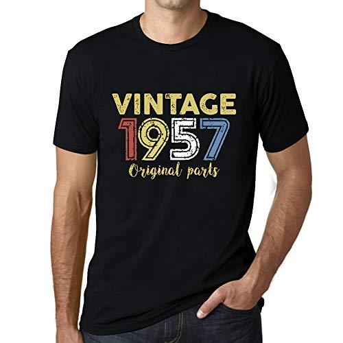 Ultrabasic - Hombre Camiseta Gráfico tee Shirt 1957 Cumpleaños de 63 años Original Parts Negro Profundo