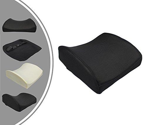 Leogreen - Lendenwirbel-Stützkissen, Rücken-Stützkissen, Schwarz, Inneres Füllmaterial: Memory-Schaum, Gewicht: 0,61 kg