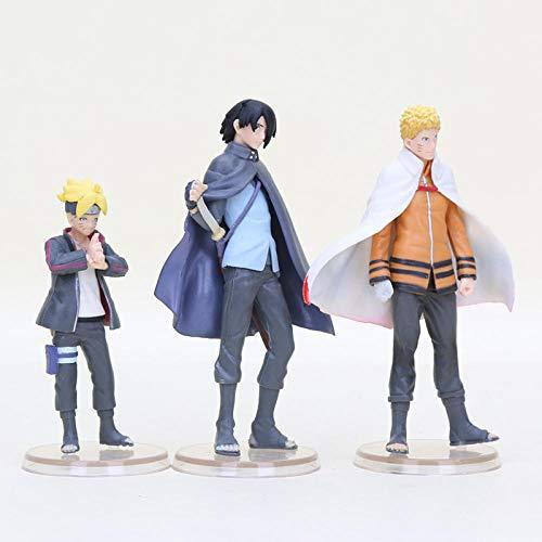 MNZBZ 3 Stück/Set Anime Naruto Figur Brinquedos Uzumaki Naruto Boruto Sasuke Susanoo PVC Actionfigur Zero Collection Modell Spielzeug