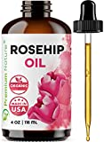 Rosehip Oil by Premium Nature - Organic Rosehip Oil - Rosehip Oil For Face, Rosehip Seed Oil - Pure Cold Pressed Unrefined RoseHip Oil For Face Hair And Nails Rose Hips Essential Oil Skin Care Moisturizer, 4oz