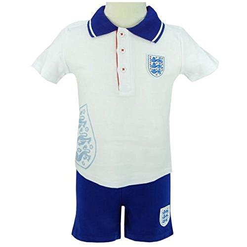 Angleterre FA bébé Kit de Football pour Homme et pour Femme Produit sous Licence Officielle 3–6, 6–9, 9–12, 12–18, 18–24 Mois, 2–3 Ans Blanc Blanc 18-24 Mois