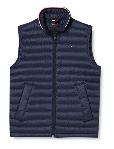 Tommy Hilfiger Herren CORE Packable DOWN Vest Jacke, Sky Captain, XL