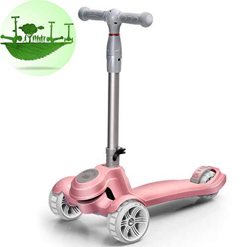 Buy Discount Scooters Self Balancing Fashion Cartoon Children Flash Three-Wheeled Skateboard for Men...