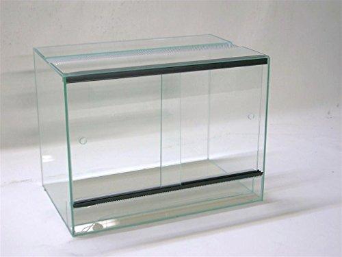 Terrarium 60x30x40 cm mit Schiebetür, Glasterrarium, Spinnen, Gekkos, Insekten, Amphibien, Skorpion