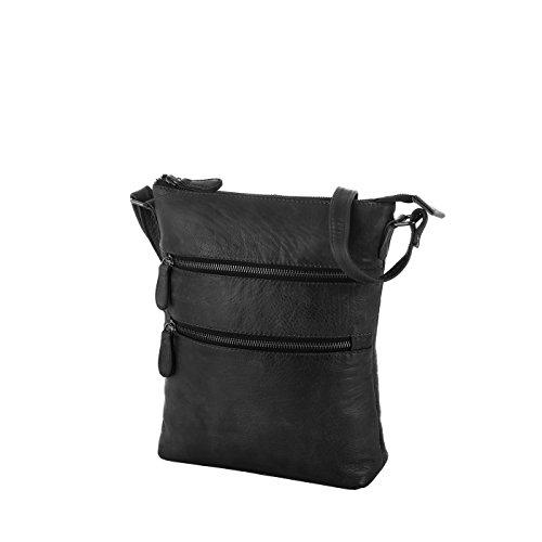 Rada Nature Umhängetasche 'Massa' echt Leder Tasche (schwarz)