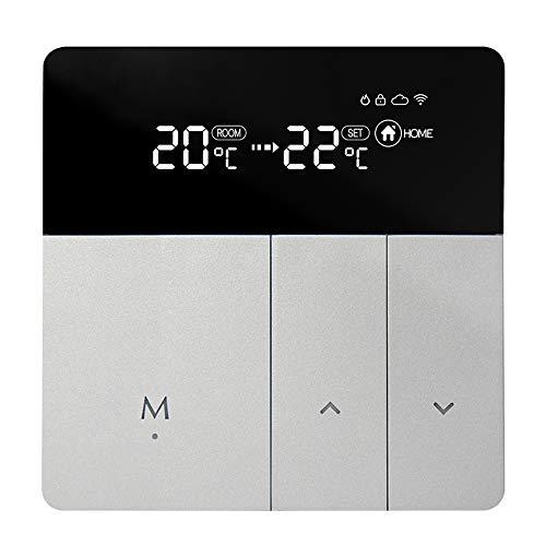 VINAELEC Termostato WiFi Inteligente para Cable de calefacción eléctrica por Suelo Radiante, Controlador de Temperatura programable de 5 + 2 días, Funciona con Alexa y Google Home