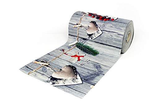 BIANCHERIAWEB Tappeto Passatoia Antiscivolo con Stampa Digitale Dis. Renna Natale 50x230 Renna