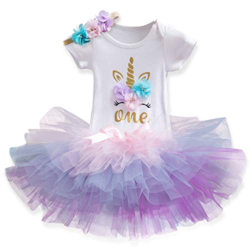 TTYAOVO Newborn Girls It's My 1st/2nd Birthday 4 Pcs Outfits with...