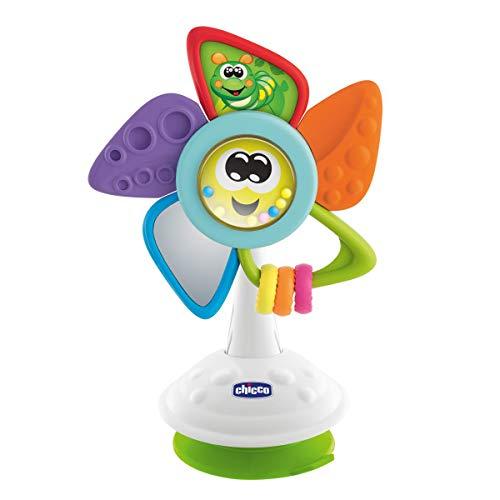 Chicco Tino El Molino-Juguete de Trona para bebés con Ventosa y Actividades manuales Comidas, Multicolor (00009710000000)