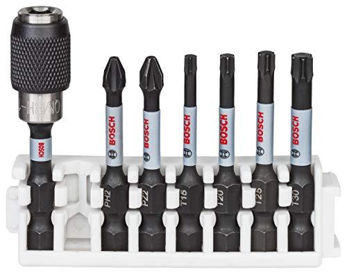 Bosch Professional 260925C151 Set De 7 Puntas De Atornillar Impact Control Pick And Click, Accesorio Para Taladro De Impacto