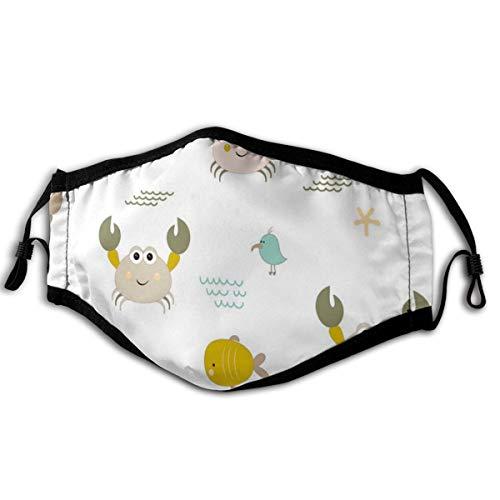 N/A zacht en comfortabel, winddicht en stofdicht, geschikt voor iedereen dagelijks dragen gekleurde krabben, vogels en vissen
