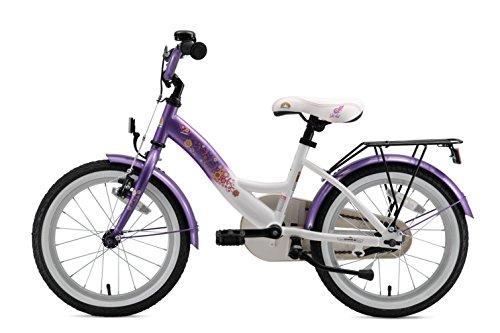 Bikestar Vélo Enfant pour Garcons et Filles DE 4-5 Ans  Bicyclette Enfant 16 Pouces Classique avec Freins  Violet & Blanc