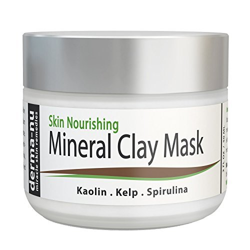 Clay Mud Mask For Cleansing Pores - Blackhead Remover Mask For Face - Treatment For Acne - Dry Sensitive & Oily Skin - Reduces Wrinkles & Minimizes Pores - Organic And Natural Skin Cleanser - 50ml