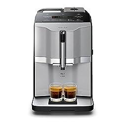 Siemens EQ.3 s300 TI303503DE coffee machine (1300 watt, ceramic grinder, display, direct selection buttons) titanium