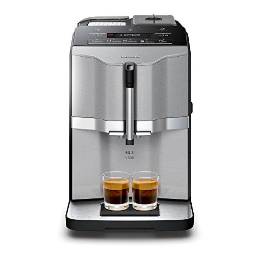 Siemens TI303503DE Independiente Máquina espresso Negro, Acero inoxidable - Cafetera (Independiente, Máquina espresso, Granos de café, Molinillo integrado, Negro, Acero inoxidable)