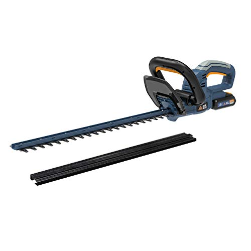 BLUE RIDGE Cordless Hedge Cutter/Trimmer with 18V 2.0Ah Lithium-Ion Battery, Charger, 53cm Cutting Wide, Safety Blade, Dual-action Blade BR8250