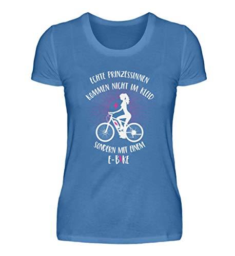 Shirtee Princesas vienen con una bicicleta eléctrica – Camiseta premium para mujer...