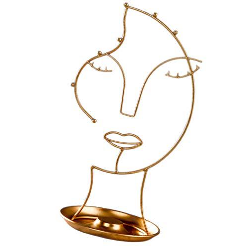 Cabilock Eisen Schmuck Display Stand Rack Kreative Frauen Gesicht Draht Ohrring Halskette Desktop Schmuck Halter Rack Home Desktop Dekoration