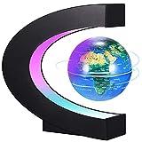 PZJFH Globe Terrestre Lumineux Flottant,Globe Levitation Magnétique,Globe Terrestre Interactif avec Lumières LED pour Education/Enseignement Démo/Cadeau Creative et Festive/Décoration de Bureau
