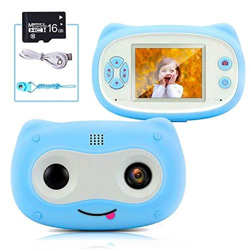 QCHEA Niños de la cámara 2 Pulgadas de Pantalla Mini Owl Videocámaras Durante 3-9 años Edad niñas y los niños con 16 GB Tarjeta Micro SD