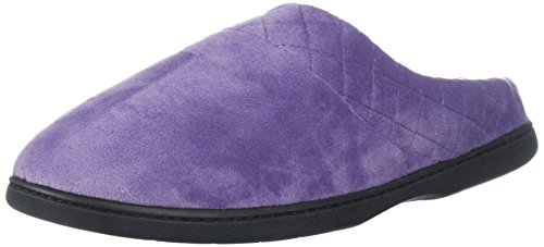 Dearfoams Darcy Microfiber Velour Clog with Quilted Cuff, Mocassino Donna,...