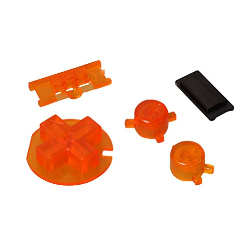 Timorn Replacement Plastic Buttons Repair Part for Gameboy Color GBC Console (Transparent Orange)