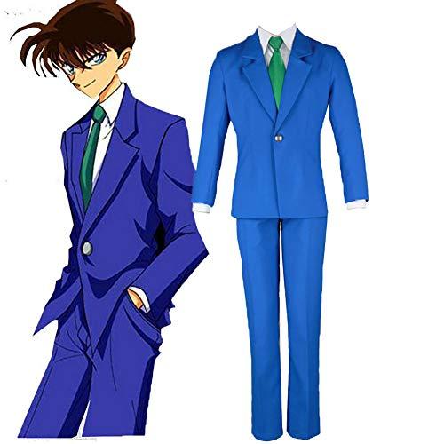 LISI Detective Conan Jimmy Kudo Cosplay Disfraz Anime Hombre Uniforme Azul Traje Japón Marinero Chaqueta para Carnaval Colegio,M