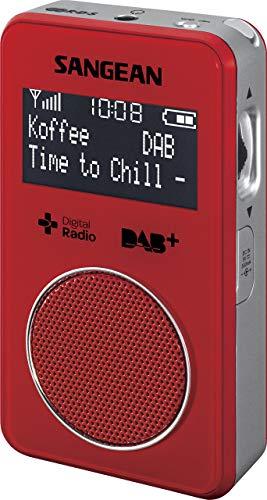 Oferta de Sangean DPR-34R - Radio portátil de 0.15 W (DAB, DAB+, FM, 3.5 mm, pantalla LCD), rojo