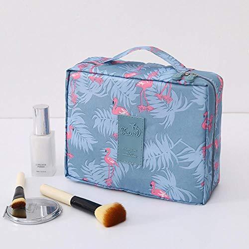 Heng Femmes Maquillage sac en nylon Cosmétique sac de beauté Cas Maquillage Organisateur Féminin Trousse de Toilette kits De Stockage Voyage Lavage pochette, Vibrant Flamants Roses, 24 cm-20 cm-8.5 cm