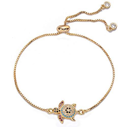 ZXMPGSZ Schildkröte Armband Einstellbar Kette Charm Armbänder Für Frauen Schmuck Armband