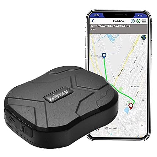 TKSTAR Rastreador de GPS de coche en todo el mundo, vehículo realitme seguimiento, impermeable, portátil magnético dispositivo de seguimiento 90días de largo tiempo de espera, onpoint sistema de monitoreo de seguimiento de última intervensión y, Negro