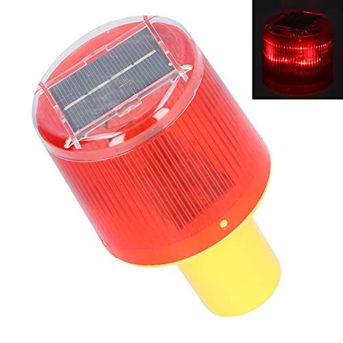 Luz estroboscópica LED solar, luz de advertencia solar LED de ahorro de energía para barreras de tráfico para situaciones de emergencia para advertencias de ingeniería
