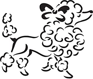 french poodle stencil