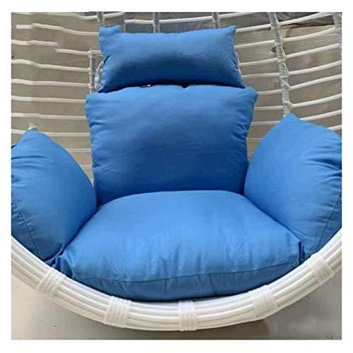 LLNN Home Decoration Swing Chair Cushion Red Swing Basket Cushion/Hanging Egg Seat Cushion/Washable,Gift|Garden Garden Hanging Basket Furniture Cushion (Color : Sky Blue)