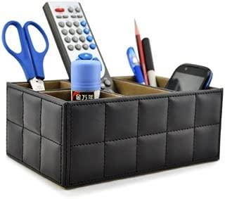 Earlygreen Pu Leather Remote Control/controller Tv Guide/mail/cd Organizer/caddy/holder Home Organizer Desk Organizer Black Color