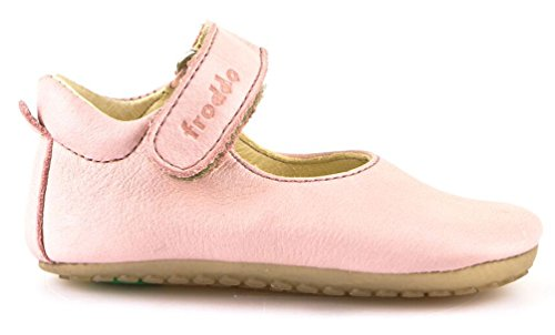 Froddo Baby Mädchen Prewalkers Lauflernschuh Krabbelschuh Ballerina Spangenschuh - PINK (rosa) - G114001-1
