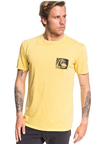Quiksilver Herren Quik Heritage Short Sleeve Tee Hemd, Gelb, Groß