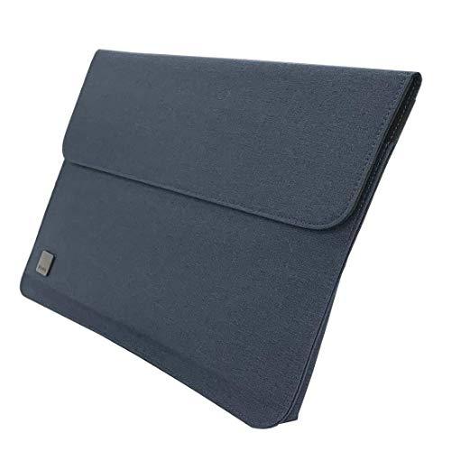 BURO タブレットケース 12インチ 汎用 ドキュメントケース A4 ファイルケース じゃばら マグネット開閉 背面ポケット 持ち運び 保護 薄型 軽量 ネイビー