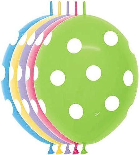 precios mas baratos 12 12 12  Polka Dots Link-o-loon (10 by Qualatex  seguro de calidad